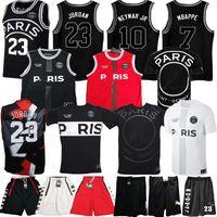 gömlek x s toptan satış-2019 PSG Paris Forması 23 Michael JD MBAPPE Paris Basketbol Formaları PSG X AJ Basketbol Forması Jordam Paris Aziz Futbol Gömlek Kiti Maillot