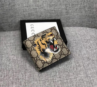 Wholesale small card boxes resale online - 2019 Paris plaid style Designer mens wallet famous men brand wallet special canvas multiple short small wallet with box serial number