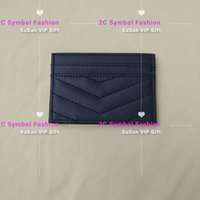 Wholesale counter cards for sale - Group buy Striped pattern fashion brand mini wallet ID card holder fashion store bag counter gift plastic bag