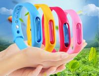 ingrosso protezione del braccialetto-20 pz Anti Mosquito Insetto Insettifugo Repellente Repeller Wrist Band Braccialetto Protezione Wristband zanzara Deet-free non tossico Sicuro Braccialetto