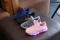 ingrosso pattini di plastica del bambino-2019 Primavera Autunno Bambini Scarpe leggere Scarpe sportive Neonate Ragazze Led Scarpe luminose per bambini Sneakers Scarpe da corsa traspiranti