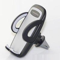 lufttelefon eins großhandel-Kostenloser Versand One-Click Release Autotelefonhalter Universal Air Vent Mount Autohalter Stehen Mobile Unterstützt für iPhone Xiaomi Samsung