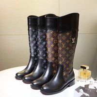 Wholesale footwear fashion heels resale online - Knee High Women Boots Round Toe Leather Footwear Wedge Heels Female Boots Zip Up Shoes Women Plus Size Luxury Womens Boots Botas de mujer