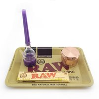 Wholesale raw resale online - raw roll rolling trays Bob Marley tray cm metal for smoking pipes papers mix pattern leaf