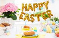 Wholesale easter party themes resale online - Happy Easter Foil Balloon Helium Air Ball Happy Easter Letters Party Foil Balloon Easter Theme Party Decoration