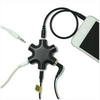 cabo usb para multi porta venda por atacado-Colorido 3.5mm Splitter Jack 6 Way Multi Port Hub Adaptador Aux Útil Conversor de Cabo De Áudio Fone de Ouvido Acessório de Saída de Ações Compartilhar