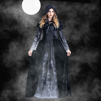 Wholesale Women Designer Cosplay Costume Halloween Female Goddess Dress Horror Skull Vampire Cosplay Clothing Women Theme Costume