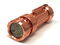 lampe de poche led cuivre achat en gros de-Mechforce - Lampe de poche / torche personnalisées EDC haut de gamme Mechtorch, cuivre