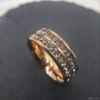 Wholesale top china fashion jewelry for sale - 2018 top Fashion Jewelry MM Stainless Steel Ring Band Titanium Silver rose Gold Men Size to Wedding engagement rose c Rings