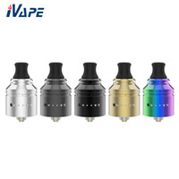 Wholesale top rda resale online - Authentic Vapefly Holic MTL RDA with Easy Single Coil Build Deck Top Refill Side Airflow System BF Bottom Feeding RDA