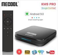 телешоу google оптовых-Бренд Google Certified Mecool KM9 Pro ATV 2G16g 4G32G Android 9.0 TV Box Amlogic S905X2 Голосовой ввод двойной WIFI Smart TV