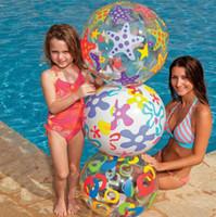 bola de peixe inflável venda por atacado-51 CM rainbow-cor inflável bola de praia do miúdo da água aniversário de ano novo presente de natal do dia das bruxas brinquedo peixe polvo de frutas impresso
