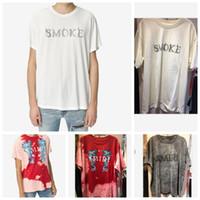 homens shorts tamanhos grandes venda por atacado-20ss verão de boa qualidade amiri mens designer de camisetas camisetas de algodão roupas de grife camisetas marca mangas curtas camisetas grandes caras tamanho 4xl