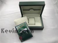 ingrosso carte di goccia-Trasporto di goccia verde marca orologio originale scatola di carta pacco regalo scatole borsa 185mm * 134mm * 84mm 0.7 kg per 116610 116660 116710 orologi