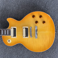 Wholesale gifts guitar resale online - In stock smoked tiger grained beef bone electric guitar give friends a gift