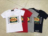 kindermodelle babykleidung großhandel-Brand Kinderkleidung Sommer neue Kinder T-Shirt Baumwolle High-End-Komfort platzen Modelle Runde Kinderkleidung c9