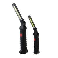 led mıknatıs ışıkları toptan satış-Mıknatıs 889 ile LED Işık El Katlama lambası Şarj 'Best' COB İş Işık USB