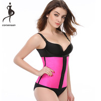 011aeb3a639 Plus Size 3 Rows Of Hooks Women Waist Cincher Shaper Firm 9 Spiral Steel  Boned Latex Sport Waist Trainer For Weight Loss 2840