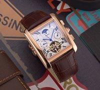 квадратные мужские часы механические оптовых-Мужские часы 2019 дизайнерские роскошные часы C042R с автоматическим механическим механизмом Мужские часы Real коровьей ремешок 42 мм Площадь циферблат горячие продажи