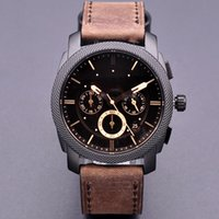 ingrosso vigilanza del vestito dell'acciaio inossidabile del quarzo nero-Montre Fossils di alta qualità vestito da uomo orologi famoso marchio FS orologio nero acciaio inossidabile reloj orologi da polso al quarzo FS4552 FS4656 FS4776