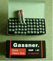 bateria de carbono de zinco venda por atacado-Baterias de zinco de carbono de 1.5V UM4 R03P R03 Super pesado 3000pcs de bateria por lote