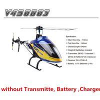 helicóptero rc flybarless al por mayor-Walkera V450D03 6CH 3D Versión de kit de helicóptero RC de 6 ejes-Gyro Flybarless (sin TransmitteBatteryCharger)