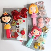 Wholesale hair clip barrette comb for sale - Group buy Hair Clip Ornaments Gift Box Excellent Products Hairpin Princess Girl Children Comb Baby Christmas Gifts Suits ch N1