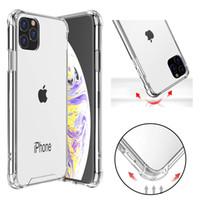 iphone rückseitige abdeckung transparent großhandel-Transparente stoßfeste Acryl-Hybrid-Rüstung Hartschale für iPhone 11 Pro Max XR XS MAX 8 7 Plus Samsung S10 Note10