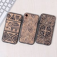 Wholesale skull iphone cell case for sale – best 3D Emboss Skull Wood grain Crashproof Back Cover Acrylic Cell Phone Cases Protective Covers For iPhone X XR XS MAX S PLUS