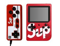 consoles de videogame de arcade venda por atacado-Mew SUP Duplas Consolas de jogos portáteis Retro Console de videogame portátil pode armazenar 400 jogos de 8 bits 3,0 polegadas colorido LCD Cradle Design