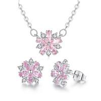 Fleurs de Cerisier perle oreille ligne Argent Sterling 925 Boucles D/'oreilles Pour Femmes Fête Cadeau