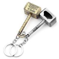 Wholesale bottle hammer for sale - Group buy Beer Bottle Openers Key Chain Hammer of Thor Shaped Creative Bottle Opener Dinner Party Bar Tools
