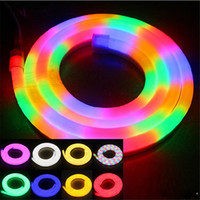 ingrosso illuminazione corda flex-LED Neon Sign LED Flex Corda Luce PVC LED Strips Indoor / Outdoor Flex Tube Disco Bar Pub Festa di Natale Bar Decorazione dell'hotel