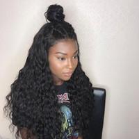 ingrosso caldo frontale merletto caldo ricci-MeiYang Lace Front Glueless Extra Long Natural Black Afro crespo ricci parrucca delle donne con i capelli del bambino sintetico calore amichevole fibra parrucca piena a buon mercato