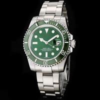 зеленая рамка автоматическая оптовых-Поставщик фабрики Роскошные наручные часы Sapphire 40mm 116610LV HULK CERAMIC ЗЕЛЕНЫЙ НАБОР / БЕЗЕЛЬ Автоматические механические мужские наручные часы