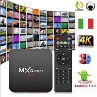ingrosso smart box android dongle-2019 ucer abbonamento Italia !! 1pcs mxq pro Android 7.1 Smart TV Box 4K Quad Core 1GB 8GB Amlogic S905W mag codice m3u