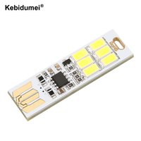 Wholesale usb bulb for power bank for sale - Group buy Kebidumei Mini Touch Dimmer Pocket Card USB Power Lamp Bulb LED Keychain W V LED Light for Laptop Power Bank Computer