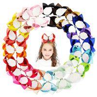 Wholesale angel hair resale online - 6 Inch Jojo Hair Clip Design Baby Girls Barrettes Boutique Bow Hairpin Kids Designer Angel Wings Grosgrain Ribbon Diamond Hair Bows