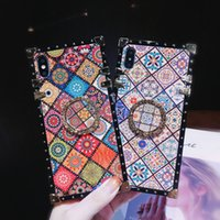 color pro printing بالجملة-Designer Phone Case for Iphone 6s 7 8 Plus Xr Xs 11 Pro Max Fashion Flow Fashion Print Phone Case with Kickstand 2 Color