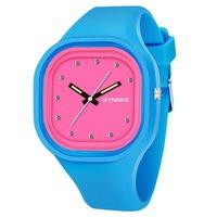 спортивные наручные часы оптовых-SYNOKE мода студент красочные Band Watch водонепроницаемый мальчиков Спорт круглый циферблат часы Марка женщины уникальный силиконовый ремешок наручные часы 66895