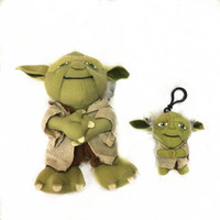 Wholesale children models baby clothing for sale - Group buy 2020 green Monster baby Doll with clothes Toy cm plush stuffed pendant toy cm with hook Keychain Gifts for children zx0012