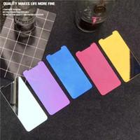 film de protection d'écran en miroir achat en gros de-1 pièce Verre trempé couleur pour iPhone X Xs Max Xr Film de protection écran iPhone 6 6S 7 8 plus film protecteur de miroir