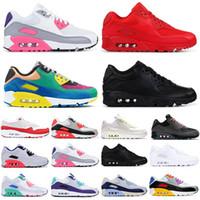 klasik açık hava ayakkabıları toptan satış-Yeni Geliş KLASİK 90 Viotech se Spor Erkekler 90'lar Beyaz Kızılötesi güney plaj üçlü Siyah Açık Atletik kadınlar için spor ayakkabıları Koşu