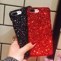 Wholesale crystal bling gel case online – custom Gold Bling Powder Bling Siliver Phone Case For iphone X XS MAX XR s S Plus Bulk Luxury Sparkle Rhinestone Crystal Mobile Gel Cover