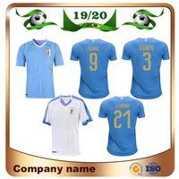 soccer team jersey al por mayor-2019 Copa América Uruguay Jersey de fútbol 19/20 Local 9 L.suarez 21 E.cavani Camiseta de fútbol # 3 D.GODIN Uniformes de fútbol del equipo nacional de visitante