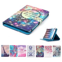 Wholesale hp bags for sale - Universal inch Tablet Case for iPad Mini Cover kickstand PU Leather Flip Cover Cases Cartoon Printed Tablet PC Bags