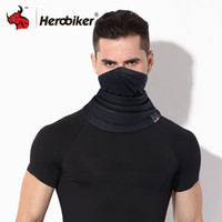 Wholesale women mask hood resale online - HEROBIKER Motorcycle Mask Winter Thermal Fleece Balaclava Hat Hood Bike Wind Stopper Face Mask Men women Neck Warmer Fleece