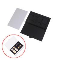 сим-протектор оптовых-Алюминиевый сплав 1 PIN-код карты + 6 SIM-карты держатель протектор коробка для хранения чехол