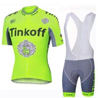 Wholesale jersey cycling saxo green online - 2018 tinkoff saxo bank cycling jersey Men s style short sleeves cycling clothing Triathlon sportswear outdoor mtb ropa ciclismo hombre bike