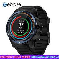 reloj de 2 gb al por mayor-Flagship Zeblaze THOR 5 Dual System Hybrid 4G Smartwatch Phone 1.39